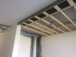 houten schrijnwerk - verlaging plafonds